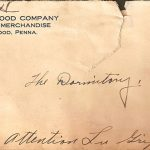 Stationary from the Heilwood Company Store, circa 1918