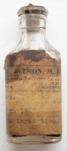 Medicine bottle (ca. 1920s)