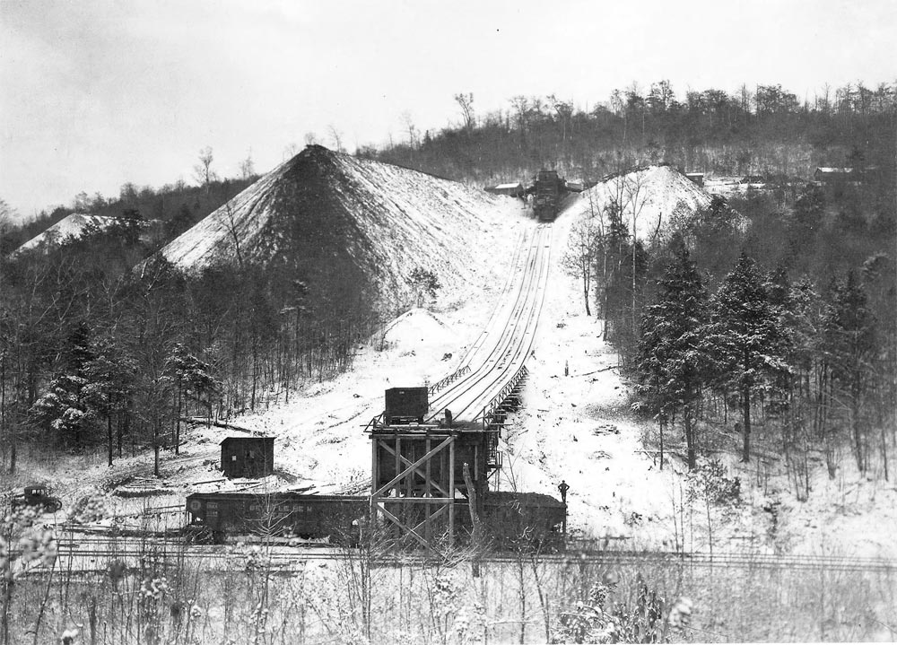 Winter view of the Mine #7 incline plane.