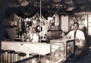 Soda fountain inside the old Heilwood Company Store