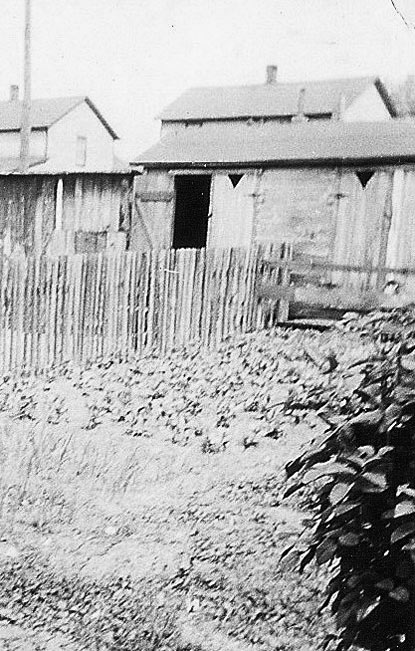 Heilwood outhouse, 1942