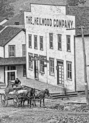 The first Heilwood Post Office, circa 1909