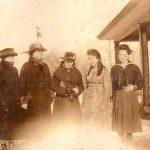 Heilwood teachers gathered outside their dormitory