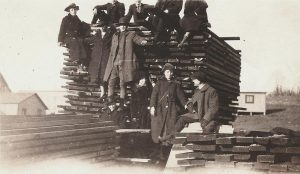 Circa 1918 photo that shows the actual lumber used to construct the Heilwood coal tipple
