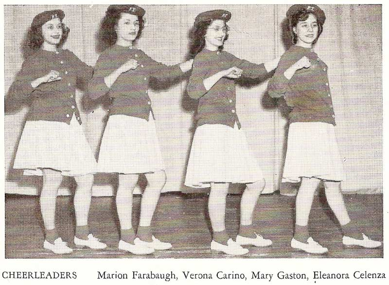 Pine Township High School cheerleaders (1946)