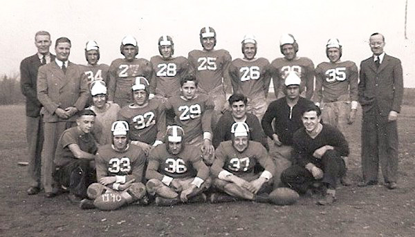 Pine Township High School - 1940 six-man football team