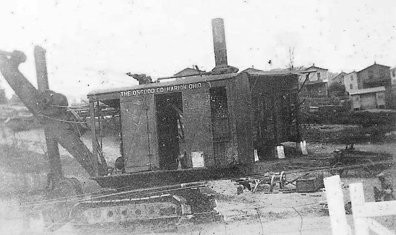 Osgood steam shovel (from Marion, Ohio) used during early road paving work in Heilwood.