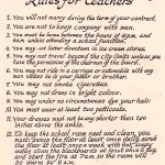 1915 Rules for Teachers