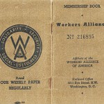 Workers Alliance membership booklet, circa 1938